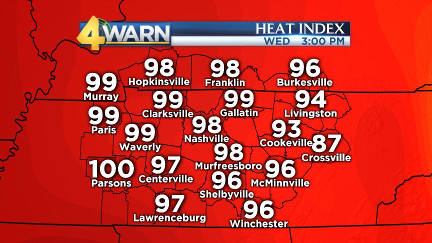 Dangerous Heat Across Middle Tennessee