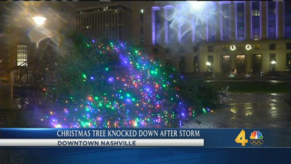 xmas tree down